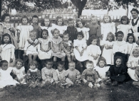 Photo de classe, école enfantine d'Yverdon